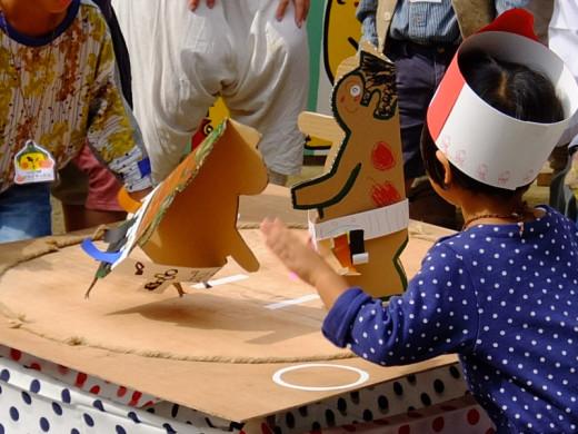 阿倍王子神社の秋祭の奉納紙相撲