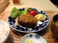 オリザのハンバーグ定食