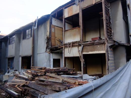 一富士荘が解体工事