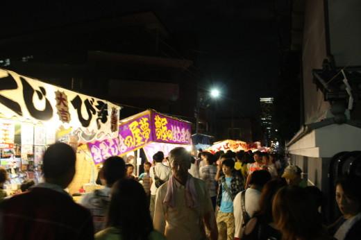 阿倍王子神社裏夜店
